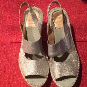 Designers Originals Shoes - Vidorreta Leather Silver Shiny Sandals New